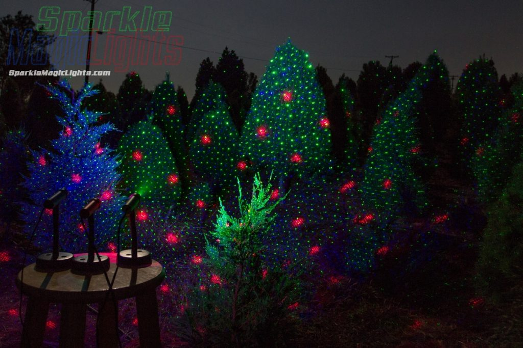 Christmas Tree Laser Lights - One red, one green & one blue