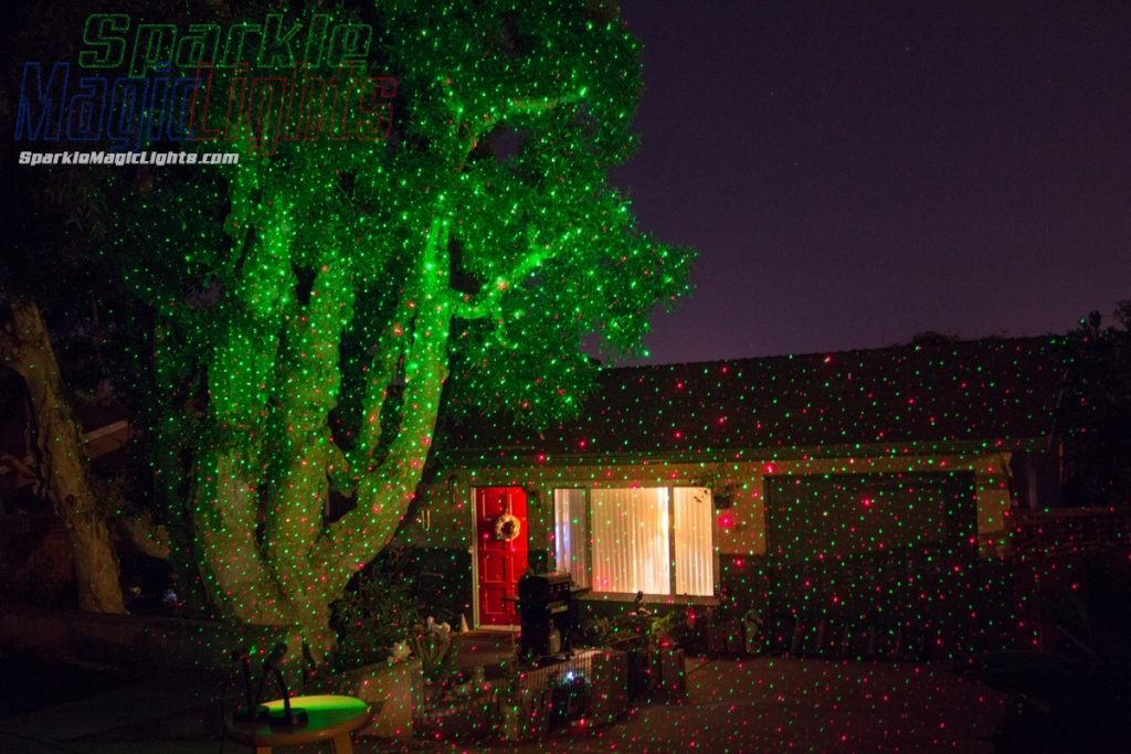Christmas laser lights project to decorate house and tree
