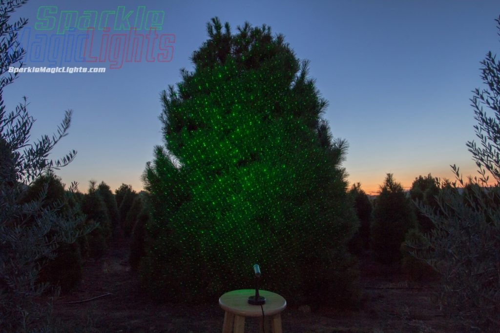 Christmas Tree Laser Lights - One green