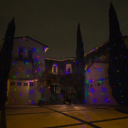 3 Laser light colors on Residence.